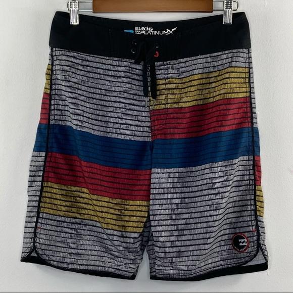 Billabong Platinum striped colorblock board shorts